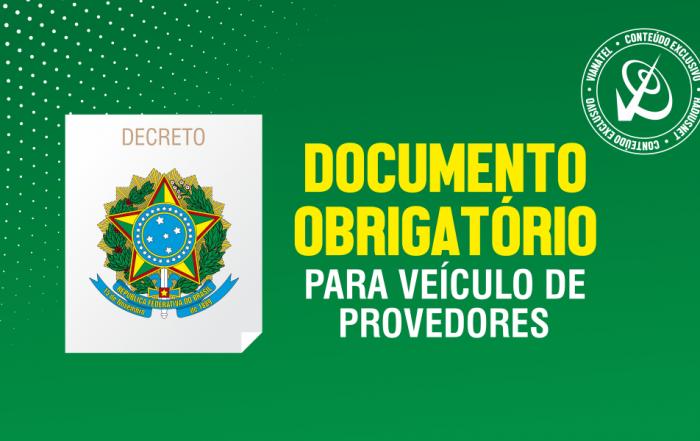 Documento Obrigatório para Provedores.